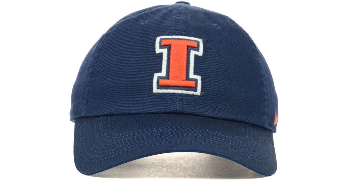 huge discount 841b1 e2b1a Nike Illinois Fighting Illini Ncaa Dri-fit Tailback Cap in Blue for Men -  Lyst