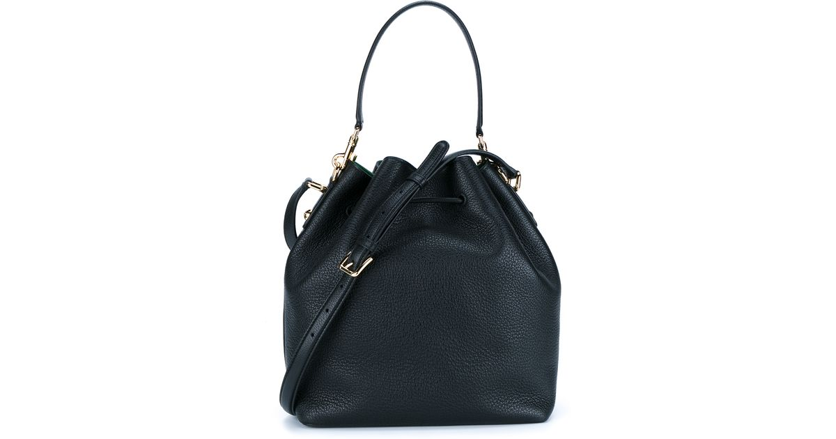 23cd460395c2 Lyst - Dolce   Gabbana Leather Bucket Bag in Black