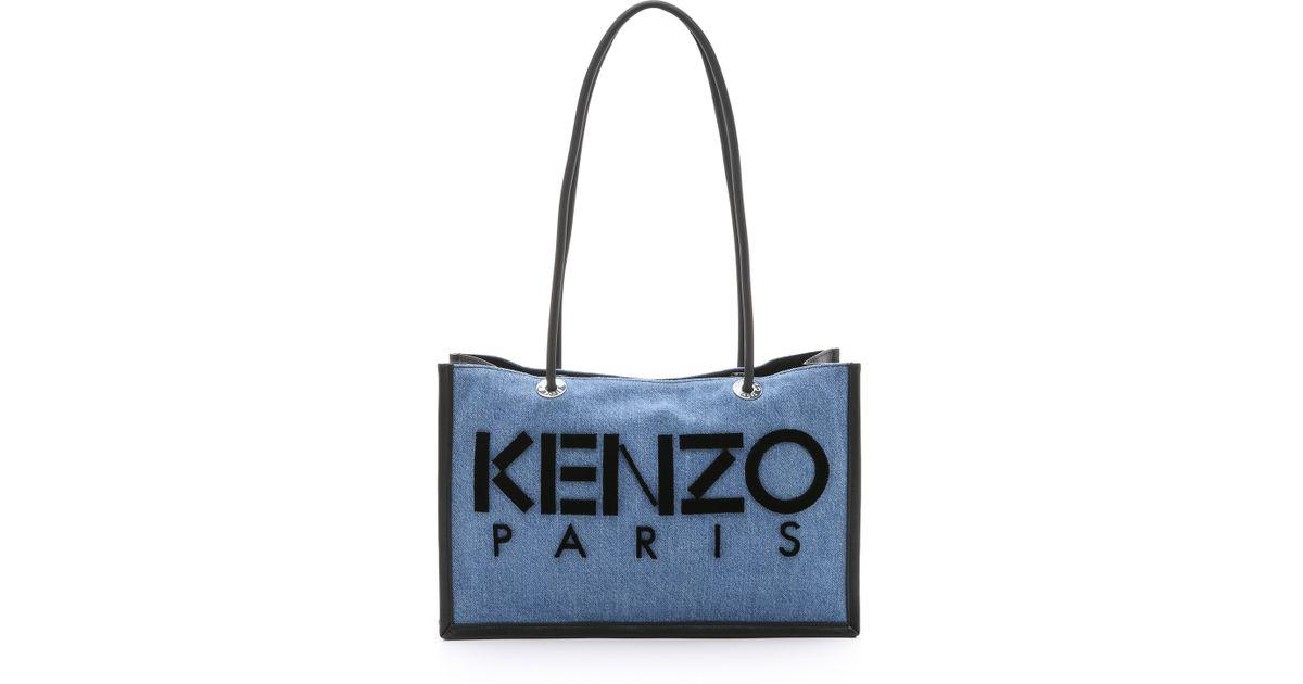 b3a3022251b KENZO Denim Tote Bag - Cobalt in Blue - Lyst