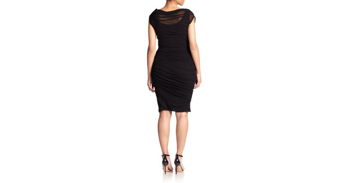 8edaf52cba Lyst - Fuzzi Convertible Ruched Dress in Black