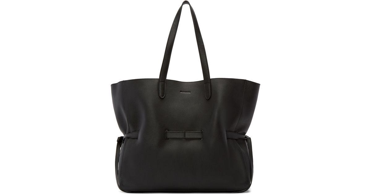 shopper tote bag - Black Jil Sander P0TV8