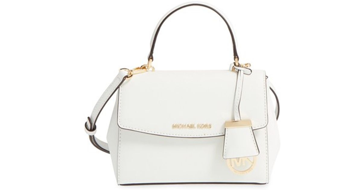 2537d9ad8a3e MICHAEL Michael Kors 'extra Small Ava' Leather Crossbody Bag in White - Lyst