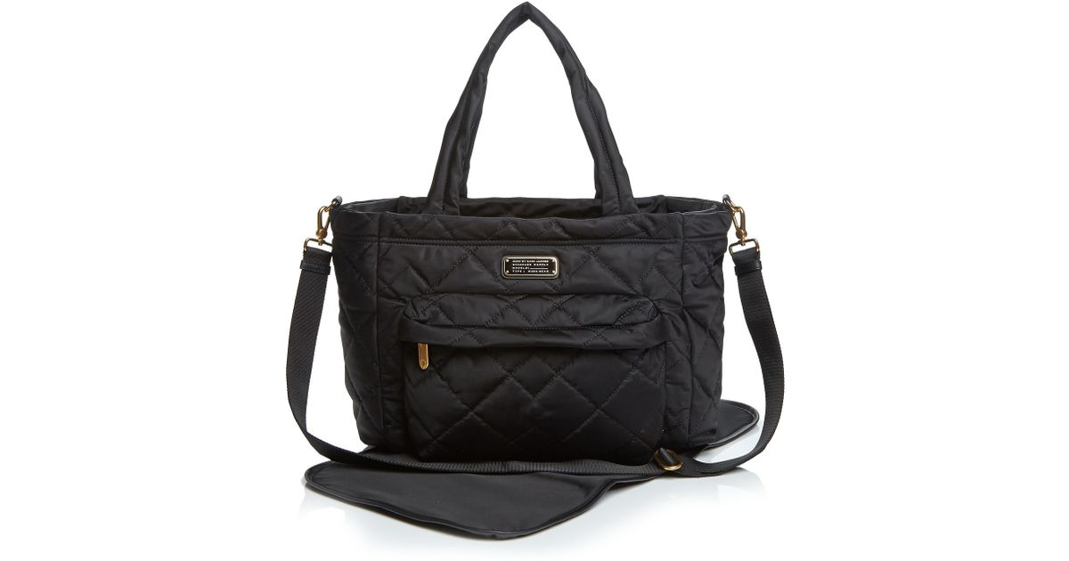 cf148df16 Marc By Marc Jacobs Diaper Bag - Crosby Quilt Nylon Elizababy in Black -  Lyst