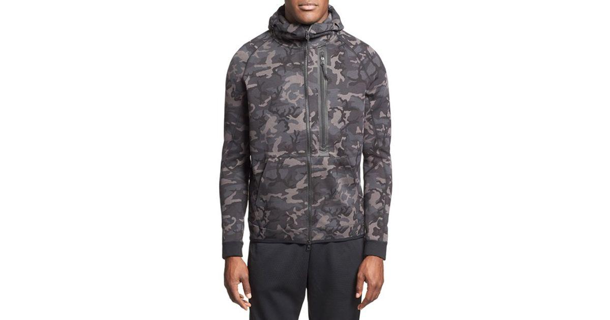 01a84145dc48 Lyst - Nike  tech Fleece Hero  Camo Full Zip Hoodie in Gray for Men