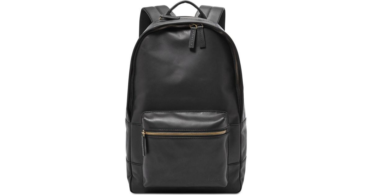 0b84ebbd55 Lyst - Fossil Estate Leather Backpack in Black for Men