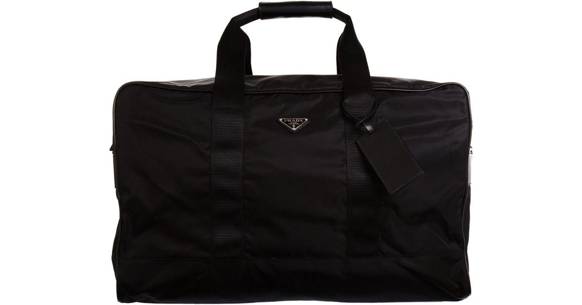 prada crocodile bag - Prada Nylon Duffle in Black for Men | Lyst