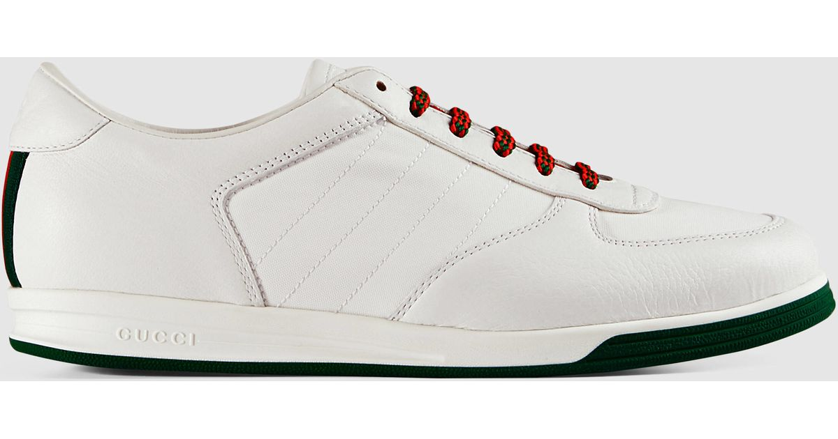 a115aab662f Lyst - Gucci 1984 Low Top Sneaker In Leather in White