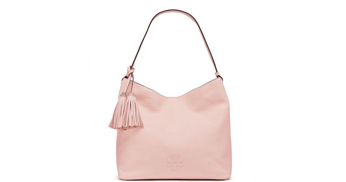 dd00df8f6e96 Lyst - Tory Burch Thea Hobo in Pink