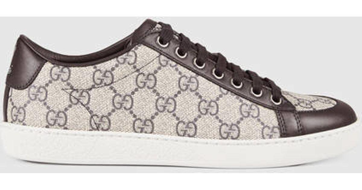 2a0f4817c6f5 Gucci Brooklyn Gg Supreme Sneaker in Brown - Lyst