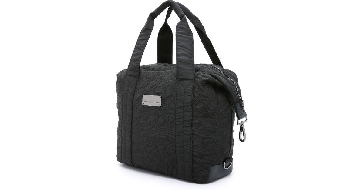 Lyst - adidas By Stella McCartney Small Gym Bag - Black in Black dfaaae419b