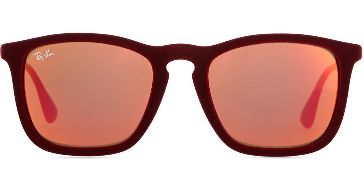 Lyst - Ray-Ban Erika Velvet Edition Sunglasses Burgundy Red in Red 8064e9c927
