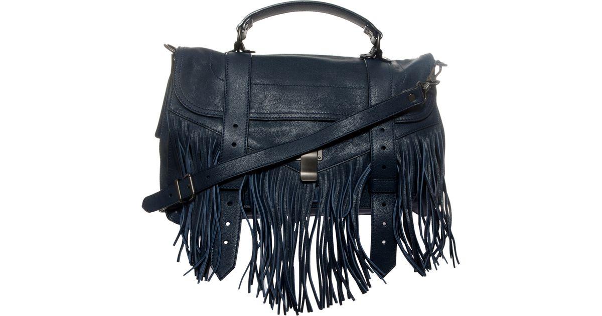 Proenza Schouler Navy Blue Leather Messenger Bag Nwt dK0IFGgA