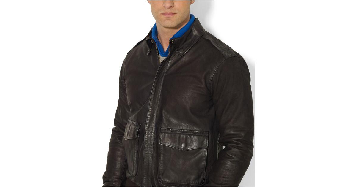 53f2286dee8a Lyst - Polo Ralph Lauren Farrington Bomber Jacket in Black for Men