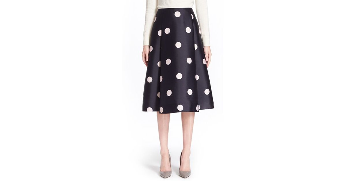 4c22c4674ae8 Kate Spade 'lysa' Dot Print Midi Skirt in Blue - Lyst