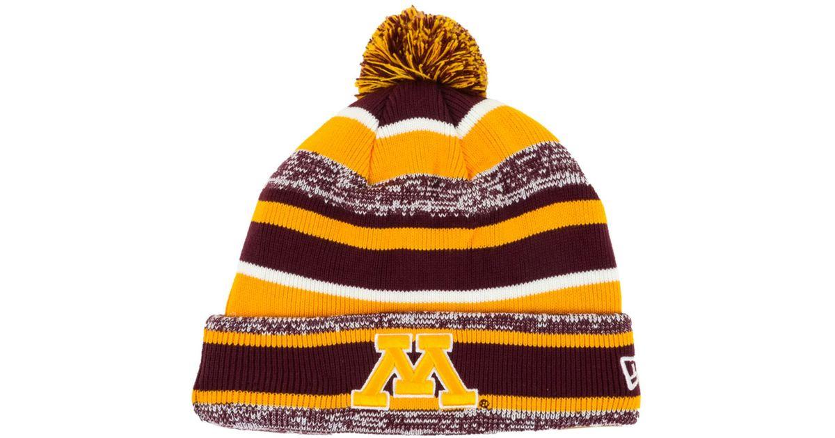 cheaper e5212 252e9 ... buy lyst ktz minnesota golden gophers sport knit hat in purple for men  4e5c0 48c65