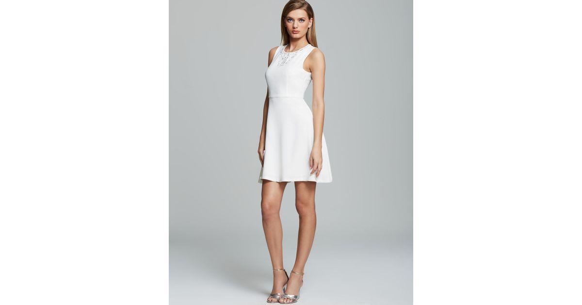 36eede3abd2 Trina Turk Dress Aldine Sleeveless Classic Crepe in White - Lyst