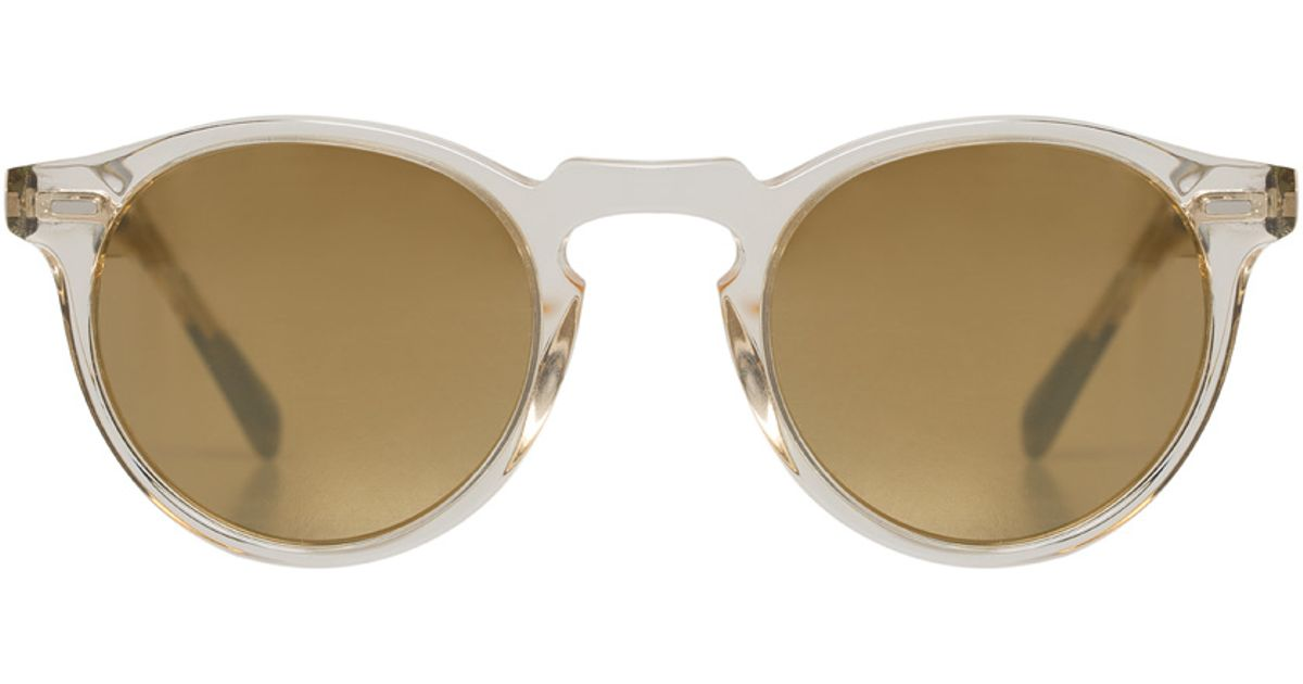 7099006d71 Oliver peoples Gregory Peck Clear   Dark Tortoise Sunglasses in Silver for  Men