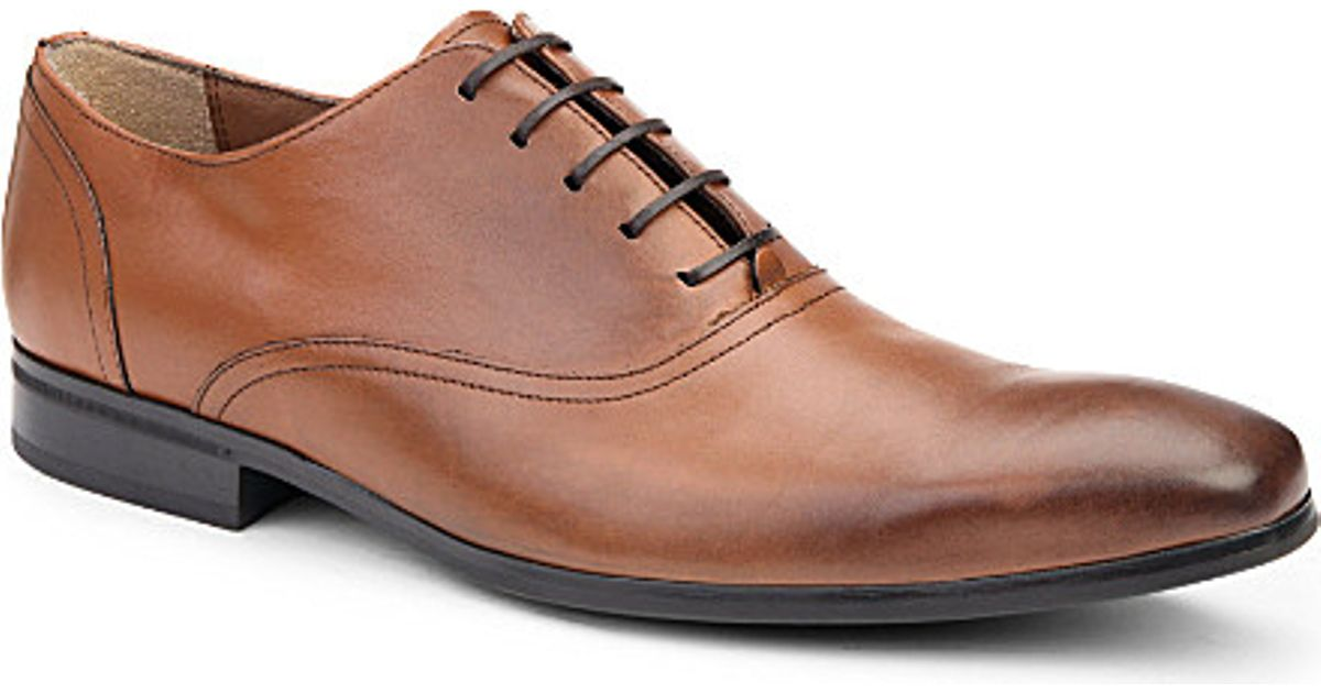 Kurt Geiger George Leather Oxford Shoes In Brown