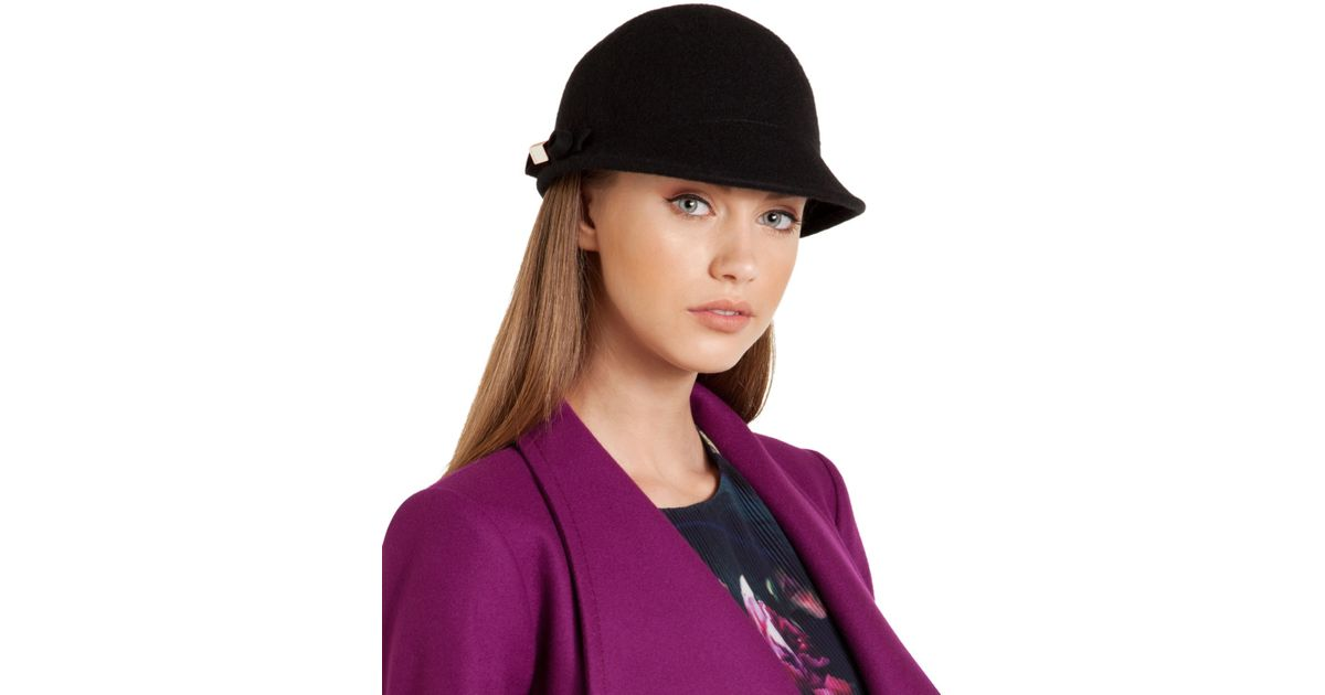 750b72f6e8ced7 Lyst - Ted Baker Bena Bow Cap in Black