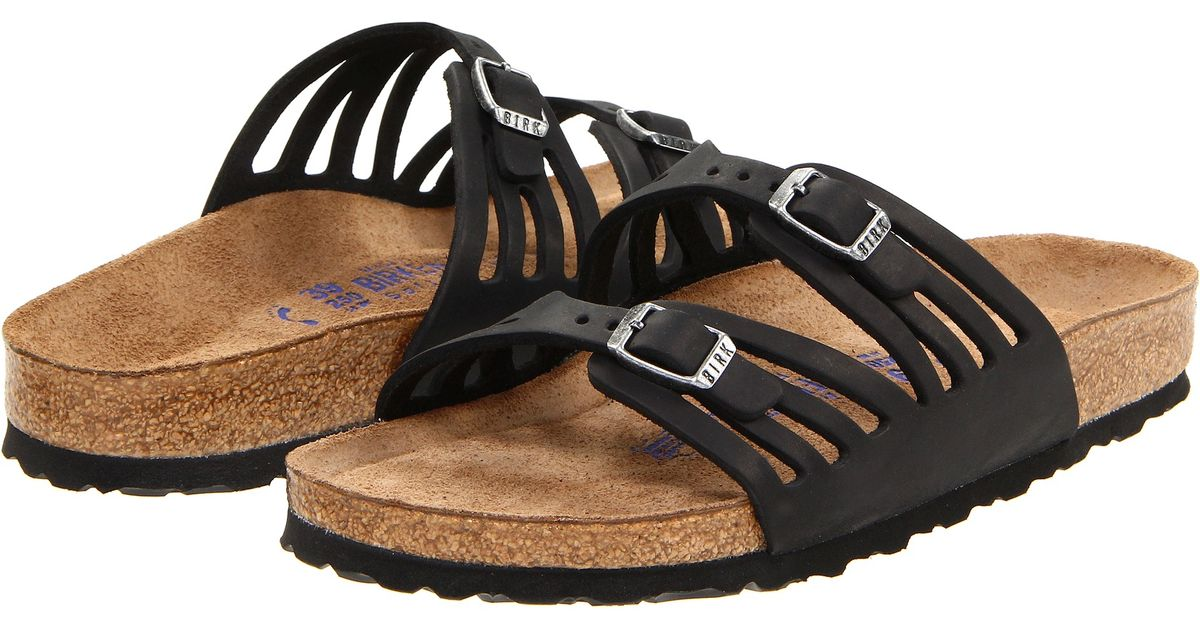 Birkenstock Granada Soft Footbed in Black (Black Oiled Leather) | Lyst