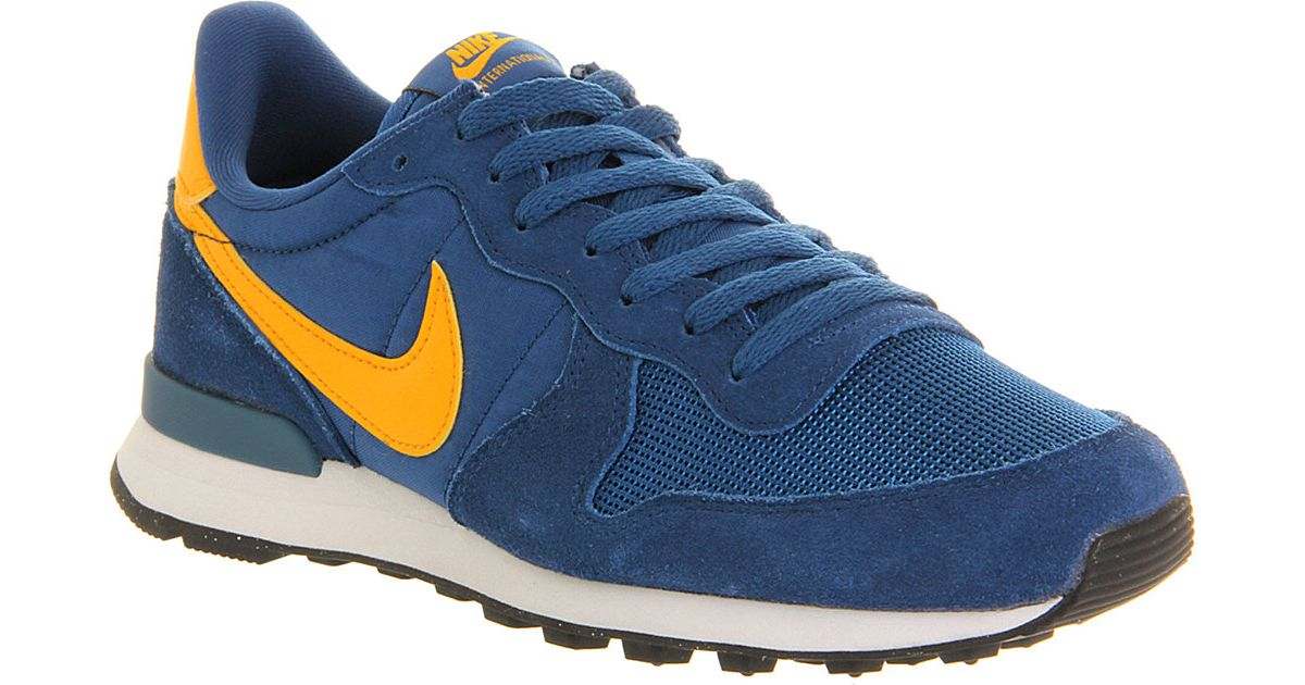 buy popular a8577 e9038 Nike Internationalist Trainers Court Blue Yellow in Blue for Men - Lyst