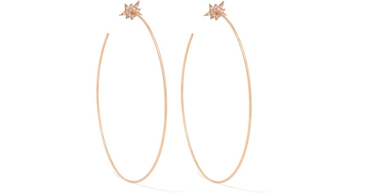 Diane Kordas Explosion 18-karat Rose Gold Diamond Earring vP9kWubf