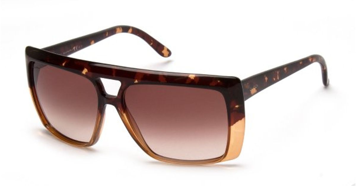 3307f5894e5 Lyst - Gucci Oversized Square Sunglasses in Orange for Men
