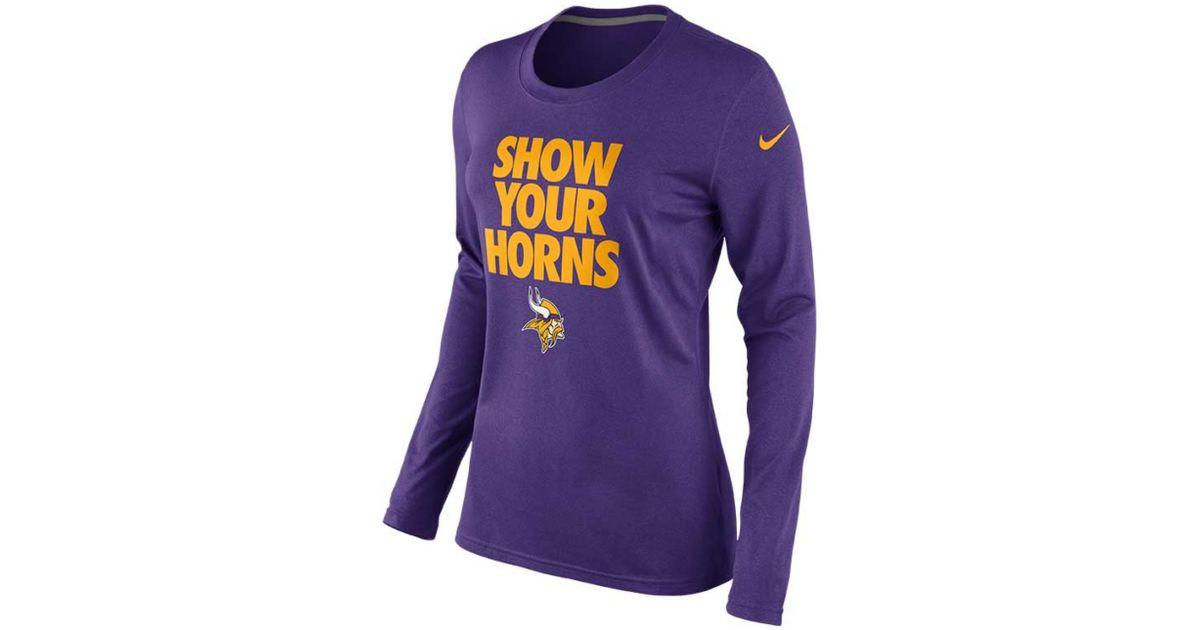 Lyst - Nike Long Sleeve Minnesota Vikings Local T-Shirt in Purple 067940727