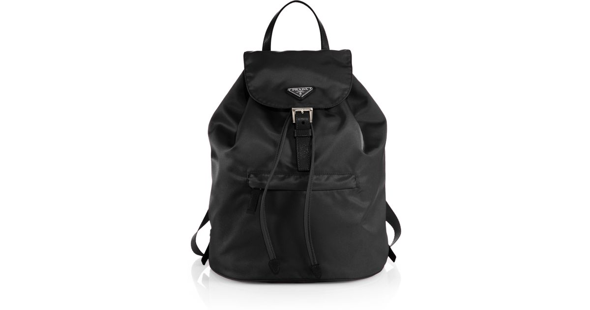 prada clutch wallet - Prada Vela Backpack in Black | Lyst
