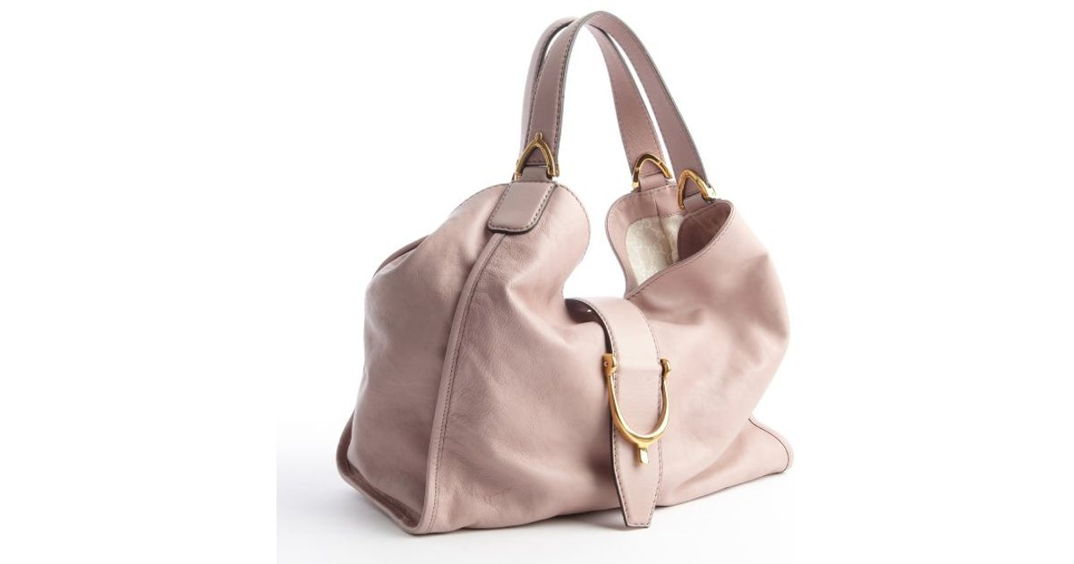 3119a4b26cb Gucci Dusty Rose Leather Shoulder Bag in Pink - Lyst