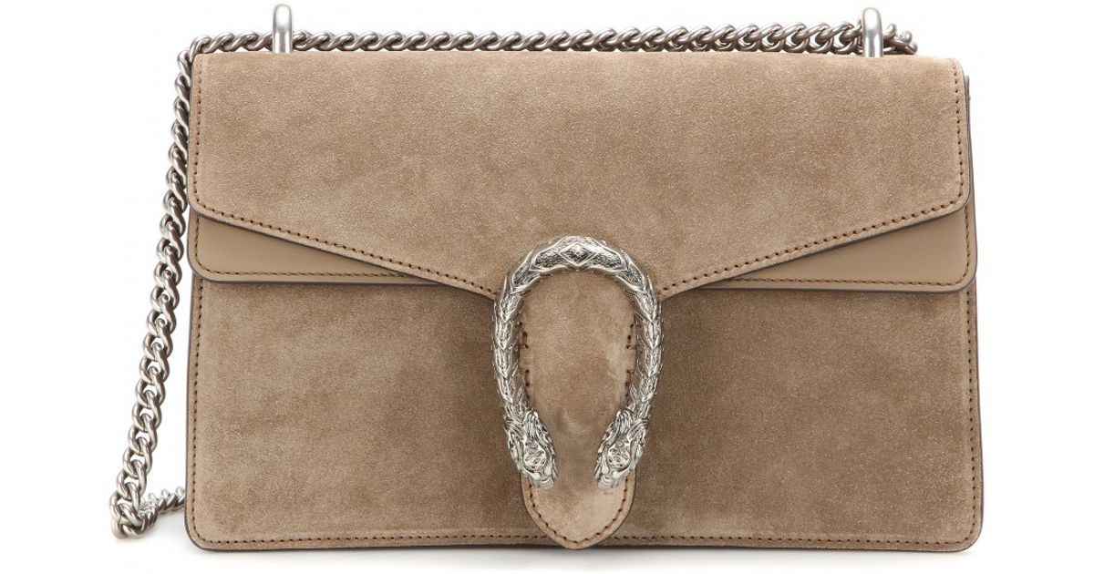 1f17d4151 Gucci Dionysus Suede And Leather Shoulder Bag in Natural - Lyst