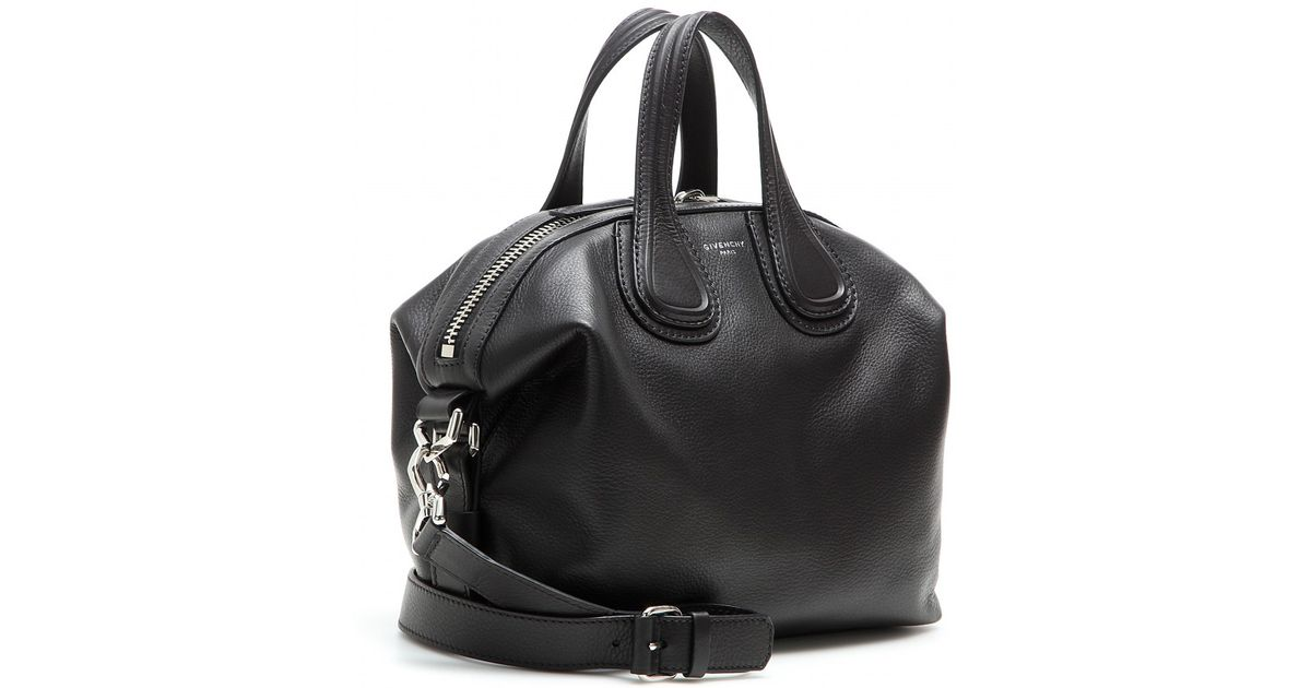Lyst - Givenchy Nightingale Small Leather Tote in Black 63b4217a72930