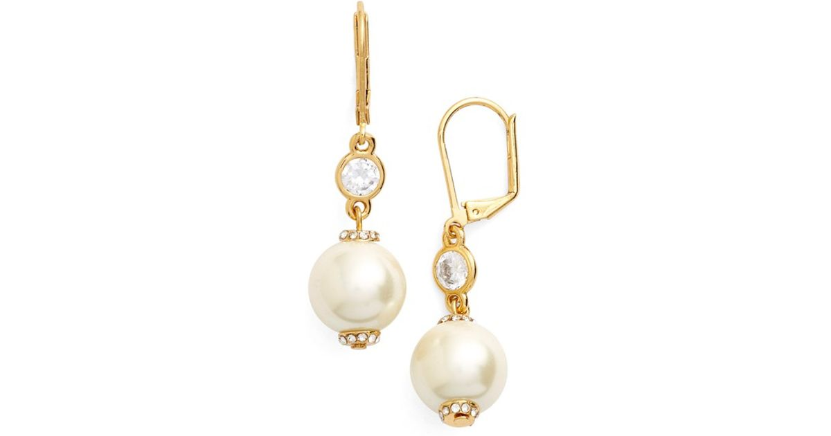 1aa250a04 Kate Spade Pearls Of Wisdom Faux Pearl Drop Earrings In Metallic
