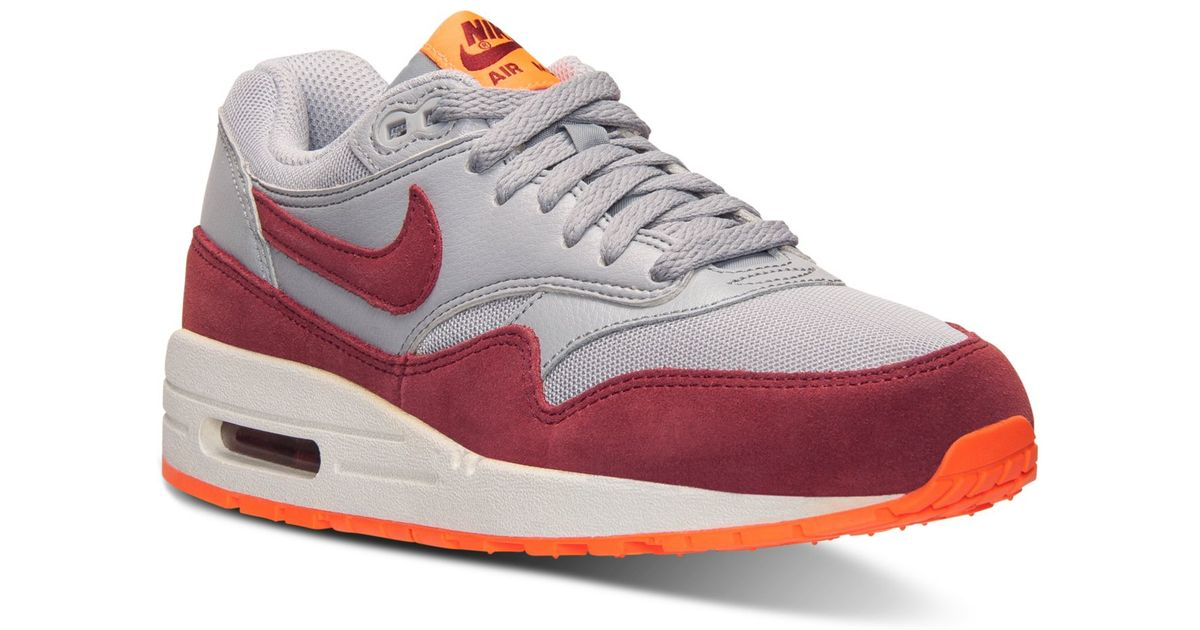 dcc3a4c07e512 Lyst - Nike Women s Air Max 1 Essential Running Sneakers From Finish Line  in Gray