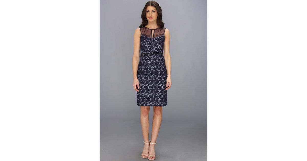 Maggy london lace applique dress