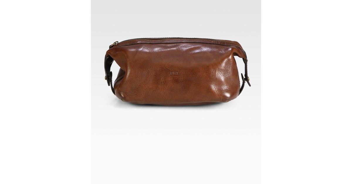 26238a892403 Lyst - Polo Ralph Lauren Leather Shaving Kit in Brown for Men