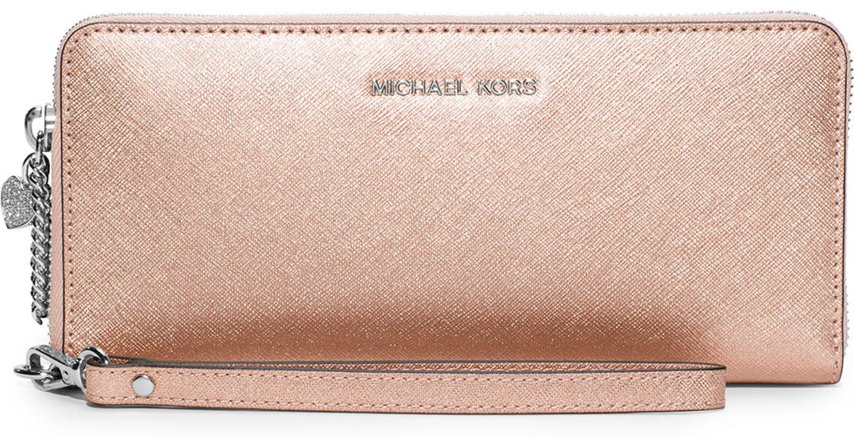 331ac8861607 MICHAEL Michael Kors Alex Travel Continental Wallet in Pink - Lyst