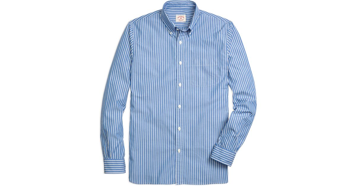 Brooks brothers stripe sport shirt in blue for men save for Brooks brothers sports shirts