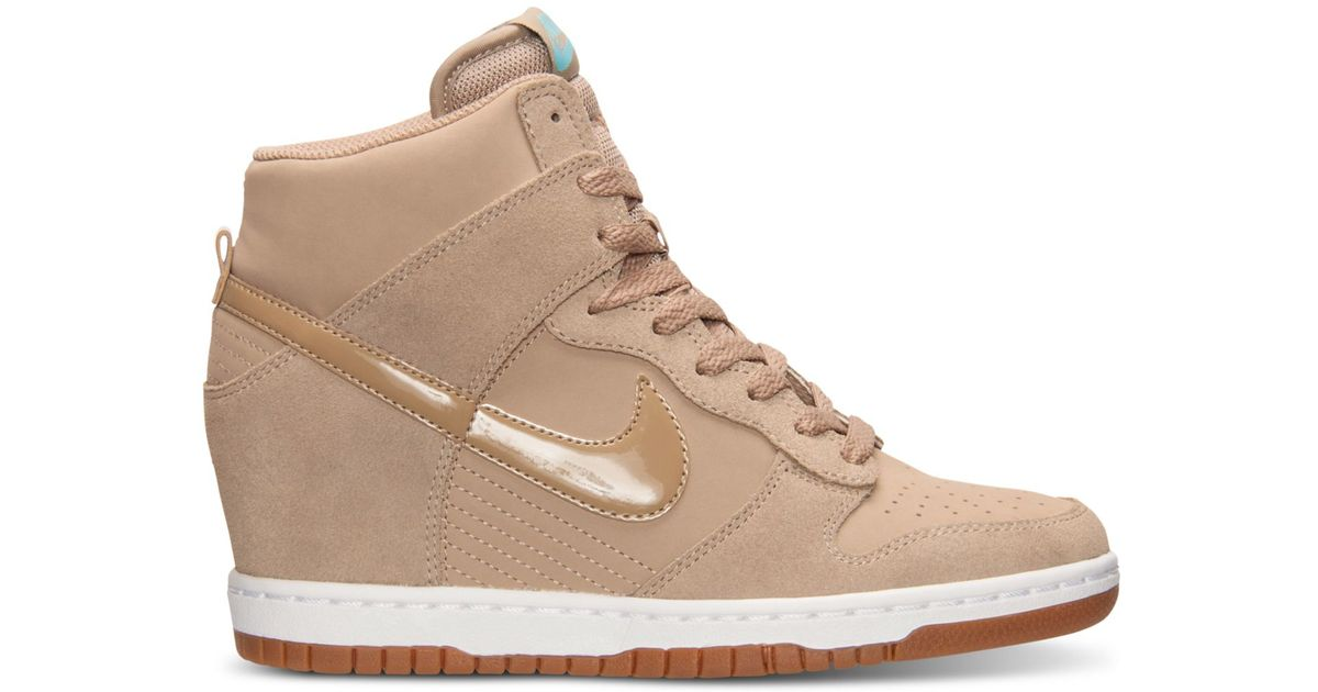 21ba895f5d ... get lyst nike womens dunk sky hi essential casual sneakers from finish  line in natural bec0c ...