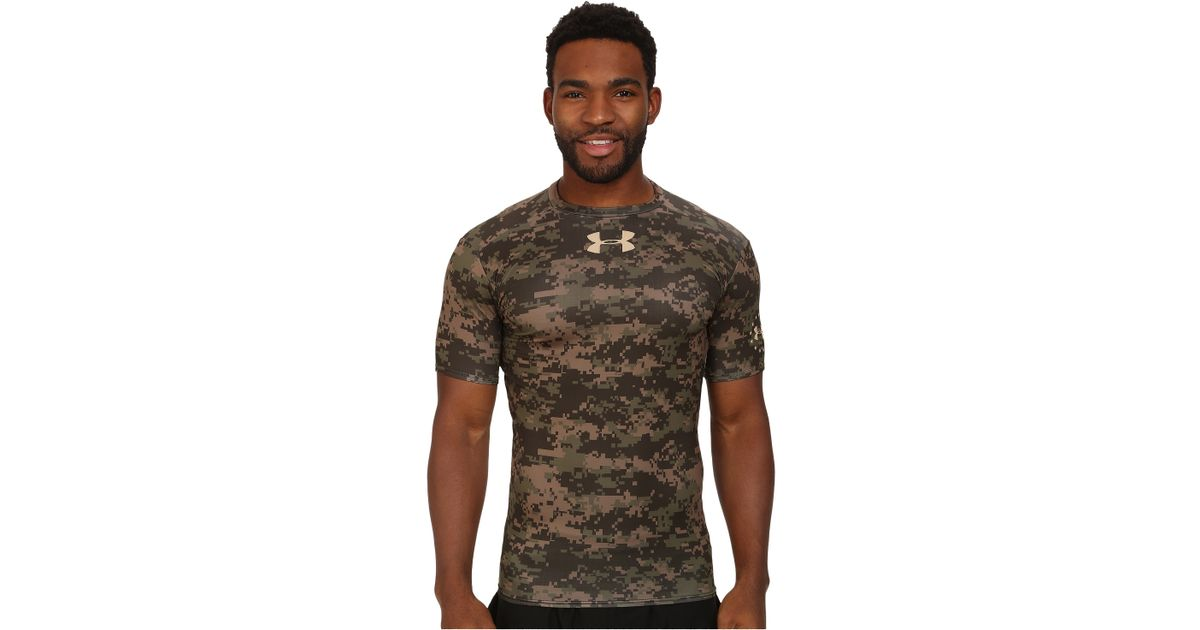 51e5c2e0 Under Armour Digi Woodland Camo Compression S/S Tee in Green for Men - Lyst