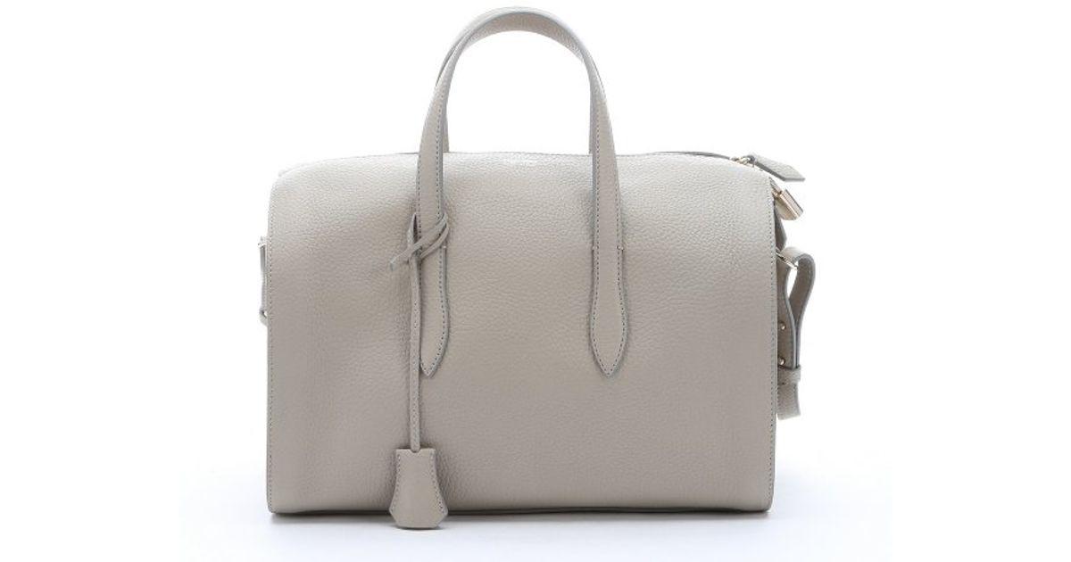 ... new style 6f362 2db88 Lyst - Giorgio Armani Stone Grey Calfskin Small  Convertible Bauletto Bag in ... fc6e02317d