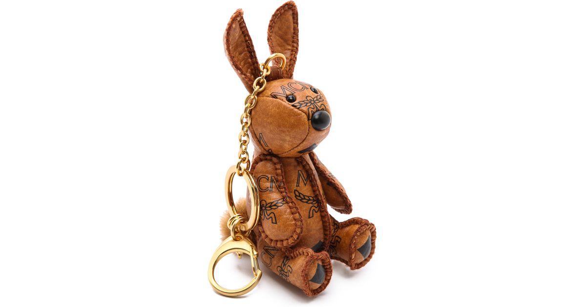 Lyst - MCM Heritage Rabbit Charm Keychain - Cognac in Brown 7ff393cde3607