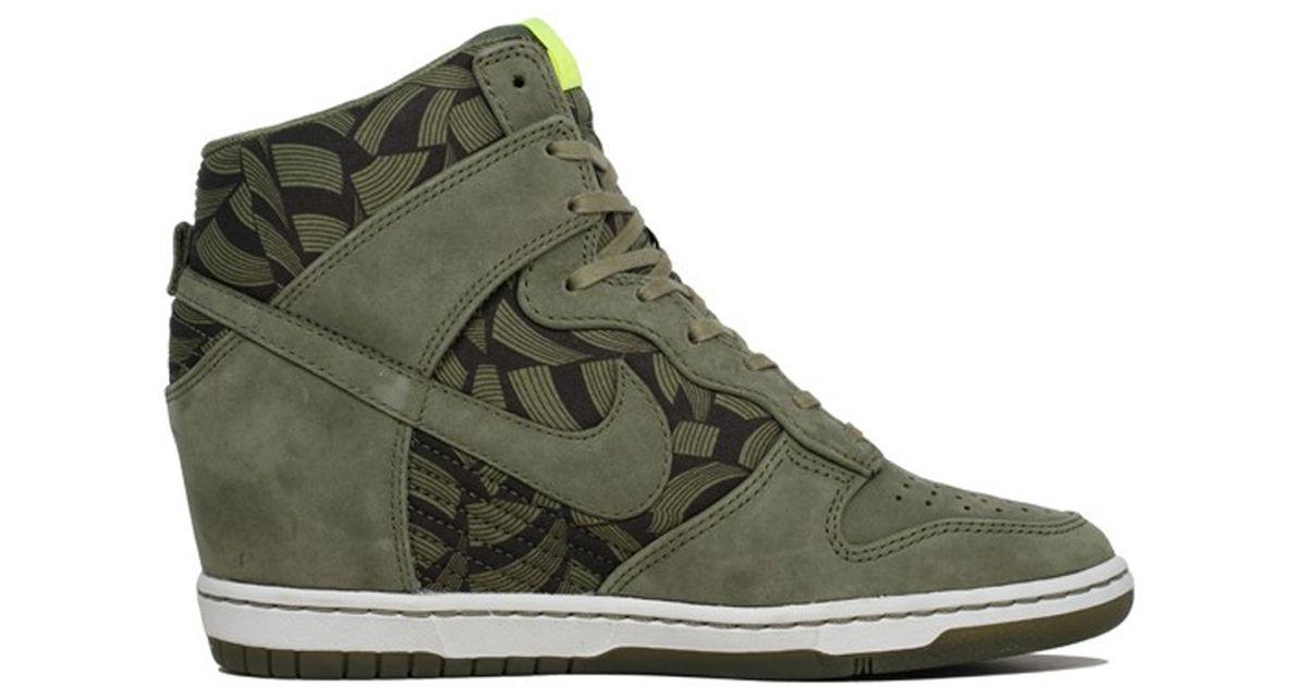 51e915573db Lyst - Nike Wmns Dunk Sky Hi Liberty Og Qs In Olive in Green