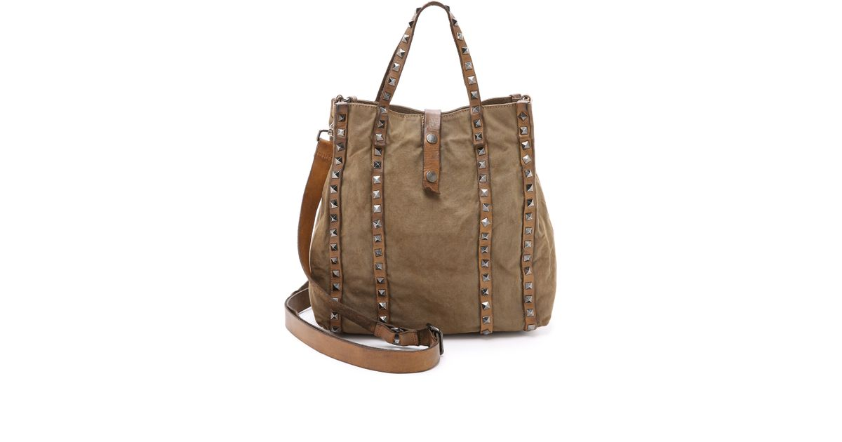 designer fashion buy good various styles Campomaggi Square Stud Shopper Tote - Military in Green - Lyst