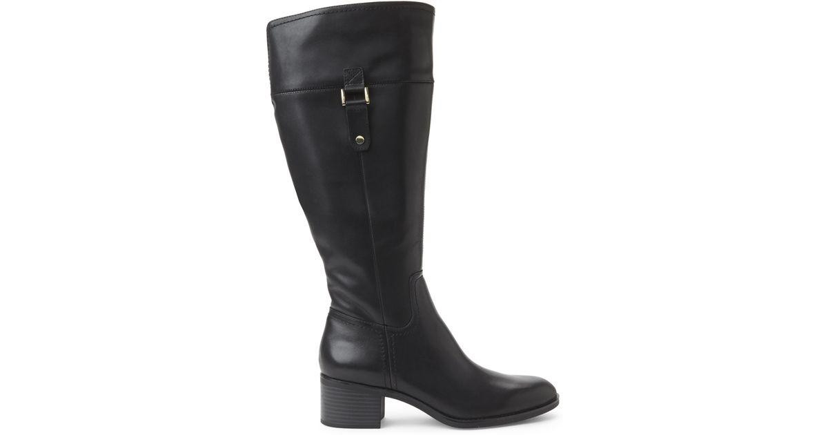 franco sarto black lizabeth extended calf boots in