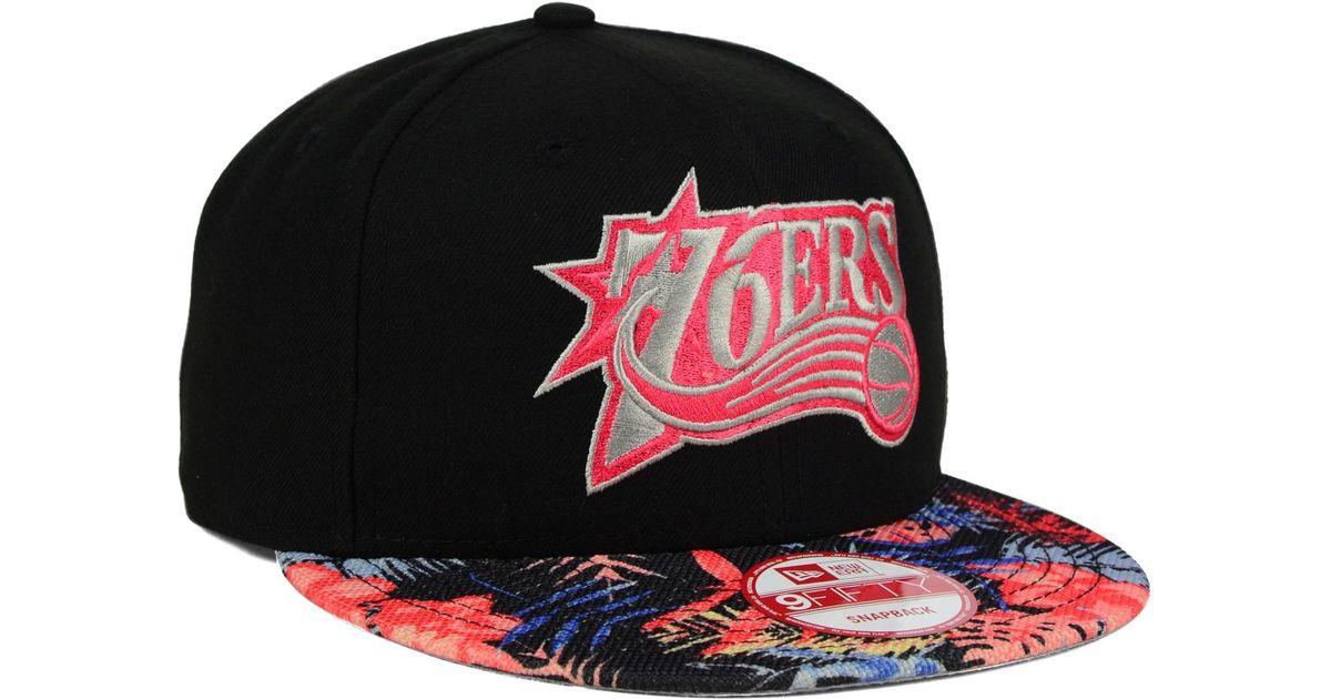 super popular 4f903 1f51b ... get lyst ktz philadelphia 76ers fall floral 9fifty snapback cap for men  82247 cbc62
