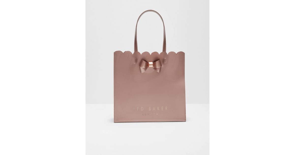 c70f032d98f16 Ted Baker Scallop Edge Large Shopper Bag in Pink - Lyst