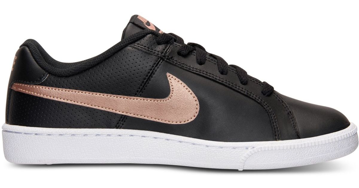 4ad056a45d3c Lyst - Nike Women s Court Royale Casual Sneakers From Finish Line in Black