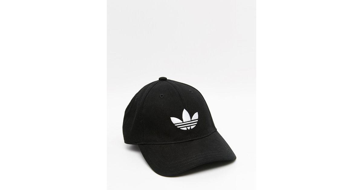Lyst - adidas Originals Trefoil Cap In Black in Black for Men eca069ffadc