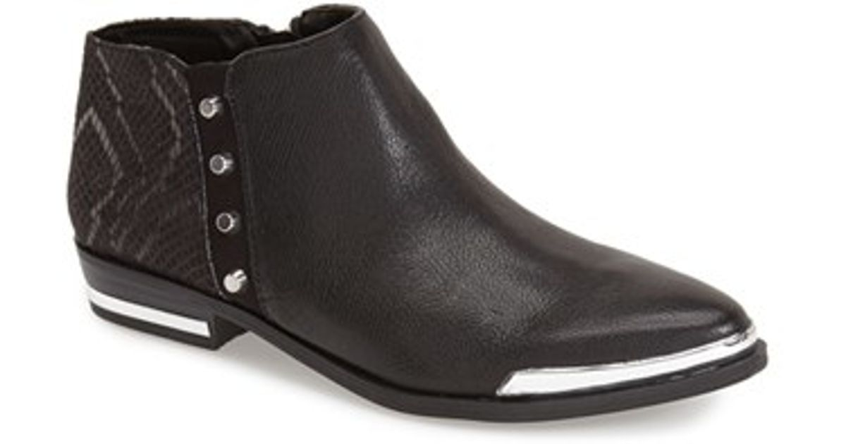 Fergie Indigo Ankle Boots In Black Black Leather White